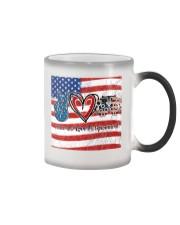 peace flag mask optometrist Color Changing Mug tile