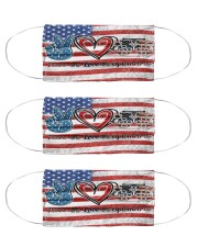 peace flag mask optometrist Cloth Face Mask - 3 Pack front