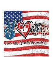 peace flag mask optometrist Square Coaster tile