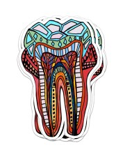 Sticker Teeth Abstract Sticker - 6 pack (Vertical) front