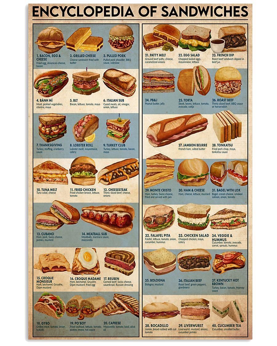 sandwich encyclopedia 24x36 Poster