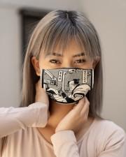 dentist samurai mask Cloth Face Mask - 3 Pack aos-face-mask-lifestyle-18
