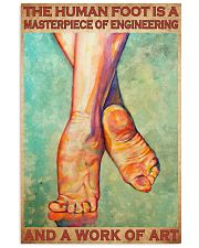 human foot podiatry 24x36 Poster front
