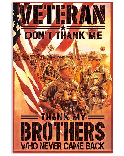 dont thank me vietnam veteran poster