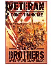 dont thank me vietnam veteran poster 11x17 Poster front