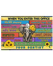Elephant office dentist 36x24 Poster front