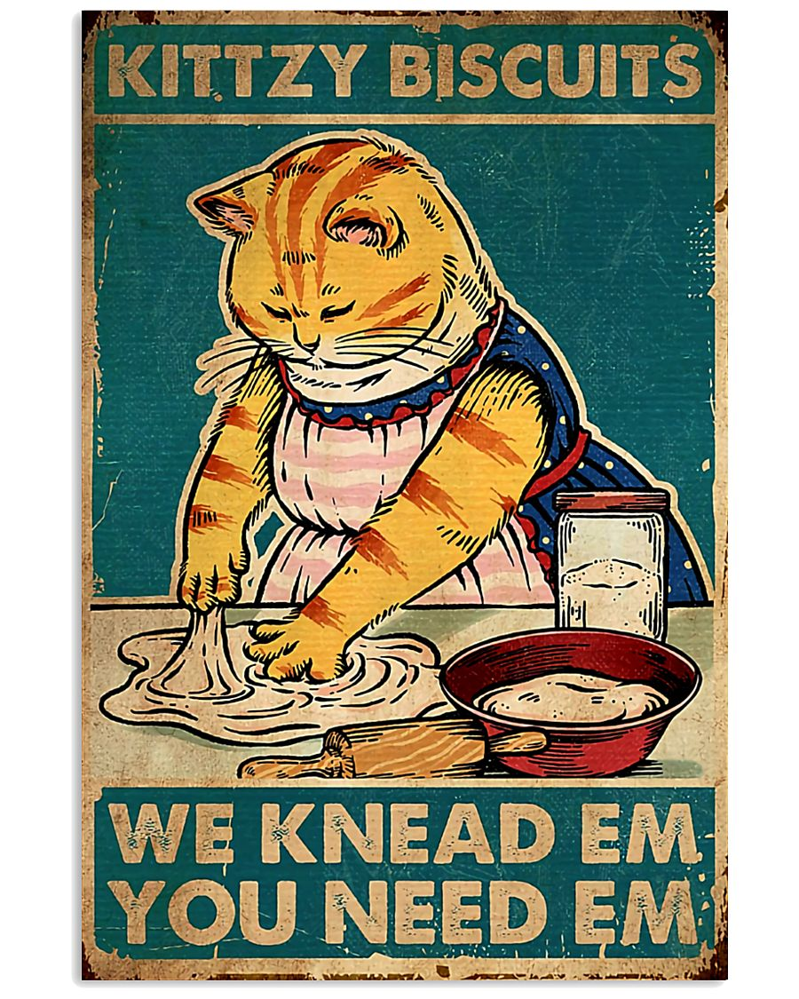 cat kittzy biscuits 24x36 Poster