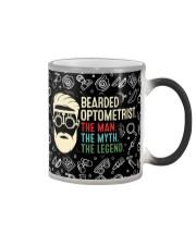 bearded optometrist mas  Color Changing Mug tile