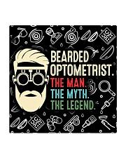bearded optometrist mas  Square Coaster tile