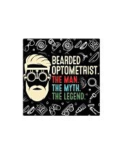 bearded optometrist mas  Square Magnet tile