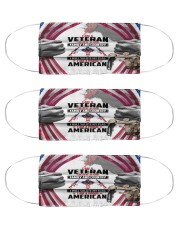 veteran believe god family country mas Cloth Face Mask - 3 Pack front