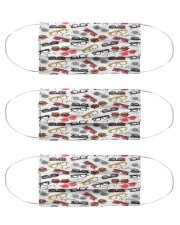 glasses pattern Cloth Face Mask - 3 Pack front
