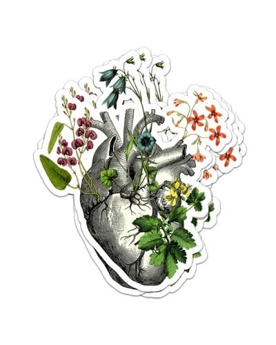 Heart Flower Sticker