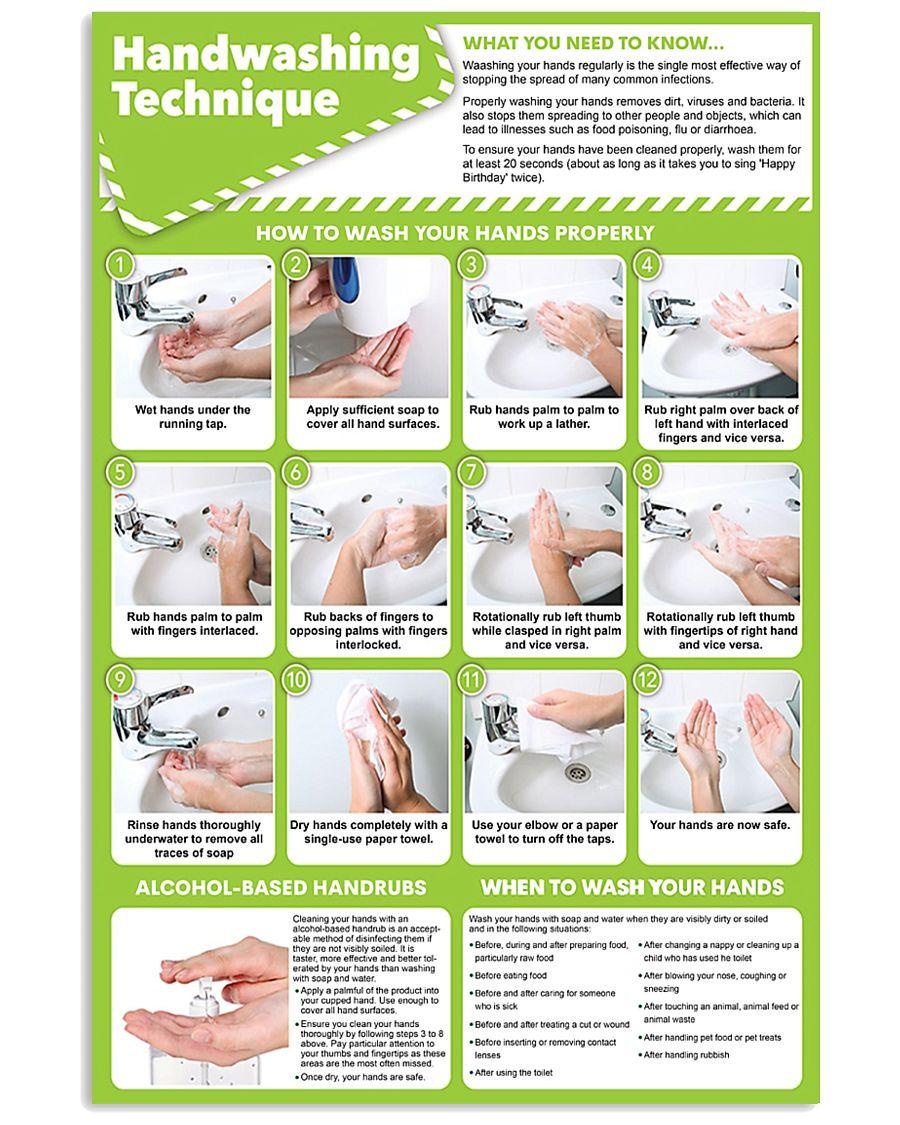 nurse hand-washing 24x36 Poster