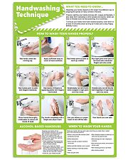 nurse hand-washing 24x36 Poster front