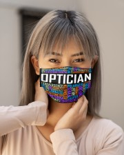 Optician typo Cloth Face Mask - 3 Pack aos-face-mask-lifestyle-18