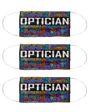 Optician typo Cloth Face Mask - 3 Pack front