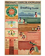 Pregnancy exercise knowledge 24x36 Poster front