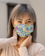 plate mask Ophthalmic Technician Cloth Face Mask - 3 Pack aos-face-mask-lifestyle-18
