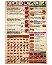 knowledge steak 24x36 Poster front