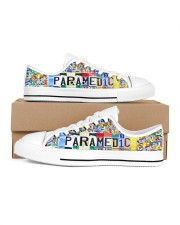 paramedic plate Men's Low Top White Shoes inside-left-outside-left