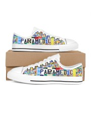 paramedic plate Men's Low Top White Shoes inside-right-outside-right