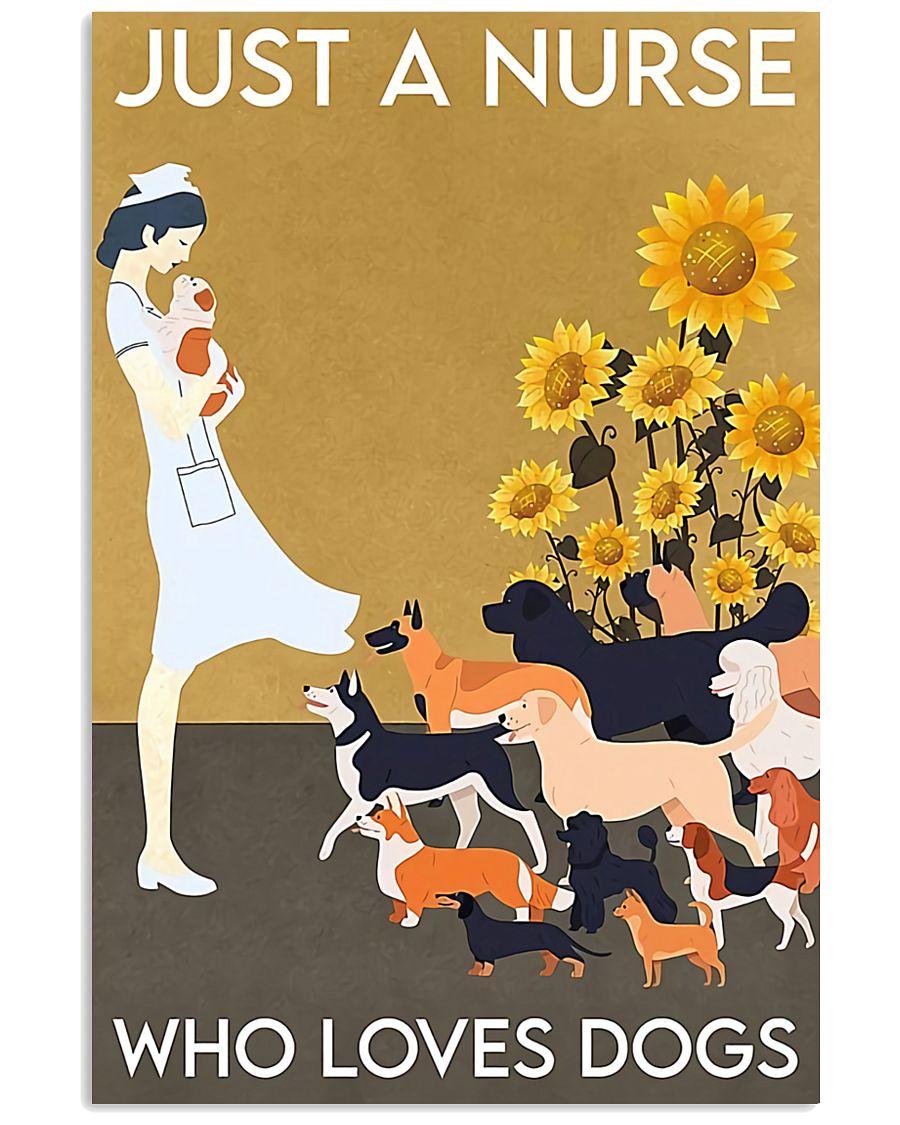 Nurse Sunflower love dogs  11x17 Poster