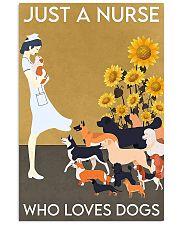 Nurse Sunflower love dogs  11x17 Poster front