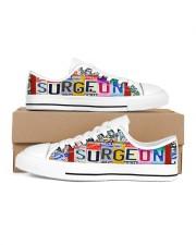 shoe plate surgeon Men's Low Top White Shoes inside-left-outside-left