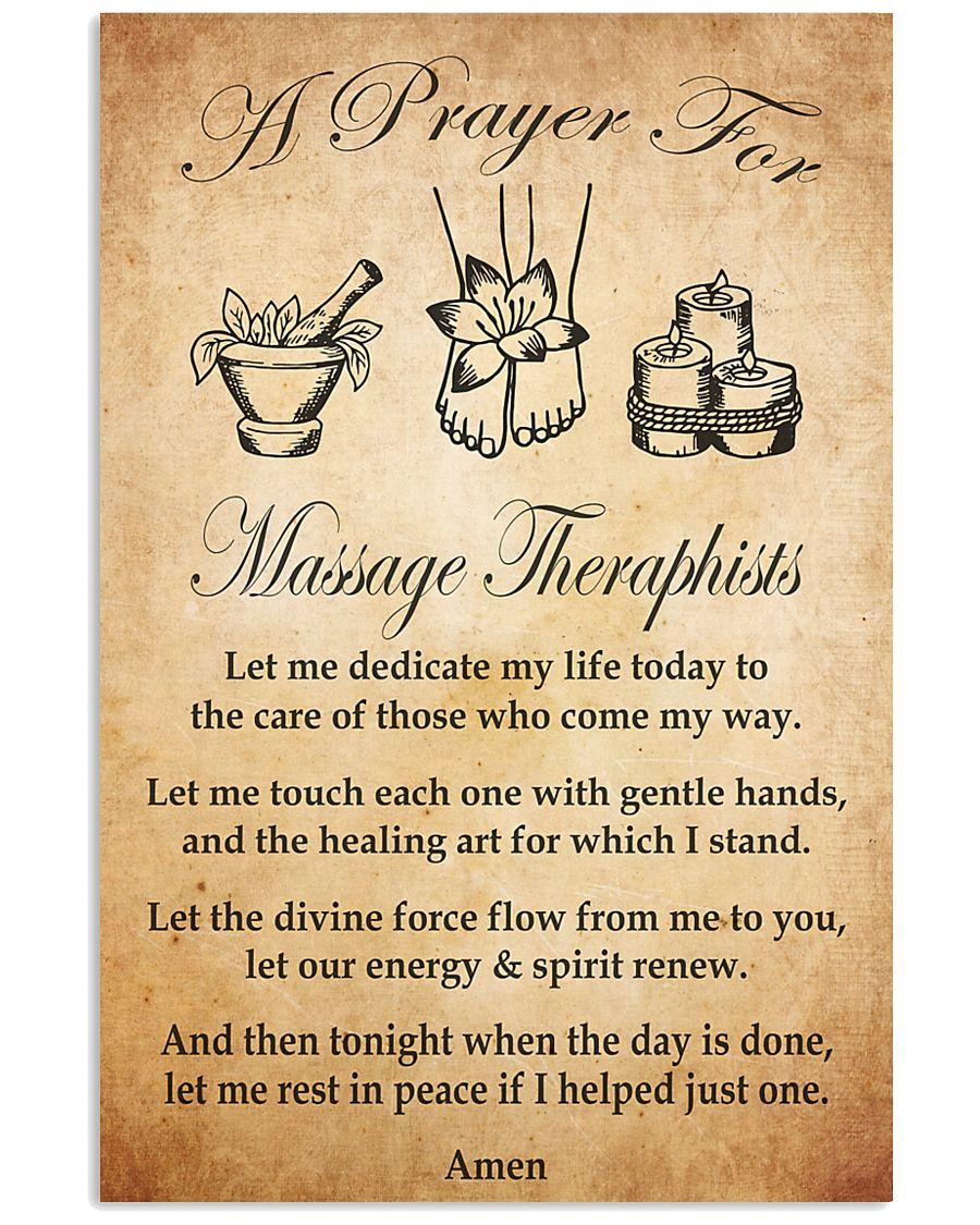 massage therapist pray 24x36 Poster