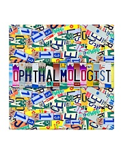 plate mask ophthalmologist  Square Coaster thumbnail