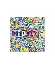 plate mask ophthalmologist  Square Magnet thumbnail
