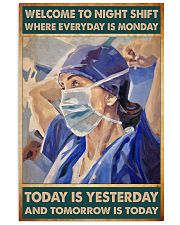 nurse night shift poster 24x36 Poster front