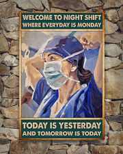 nurse night shift poster 24x36 Poster poster-portrait-24x36-lifestyle-16