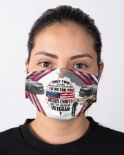 veteran and jesus die for you mas Cloth Face Mask - 3 Pack aos-face-mask-lifestyle-01