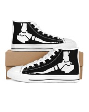 foot xray shoe  Men's High Top White Shoes inside-right-outside-right