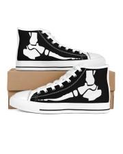 foot xray shoe  Women's High Top White Shoes tile
