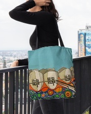 Teeth abstract 3 tote All-over Tote aos-all-over-tote-lifestyle-front-05