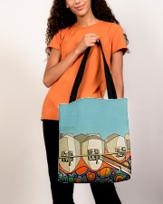 Teeth abstract 3 tote All-over Tote aos-all-over-tote-lifestyle-front-06