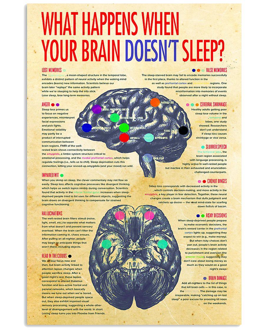 brain not sleep 24x36 Poster