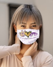 peace glit opto metry mas Cloth Face Mask - 3 Pack aos-face-mask-lifestyle-18