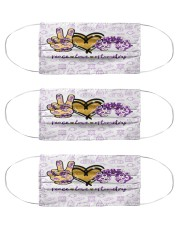 peace glit opto metry mas Cloth Face Mask - 3 Pack front