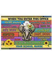 school nurse office elephant  17x11 Poster front