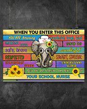 school nurse office elephant  17x11 Poster poster-landscape-17x11-lifestyle-12