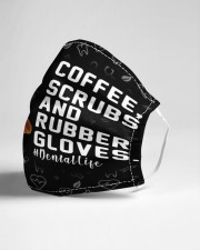 dental Coffee Scrubs and Rubber Gloves mas Cloth Face Mask - 3 Pack aos-face-mask-lifestyle-21