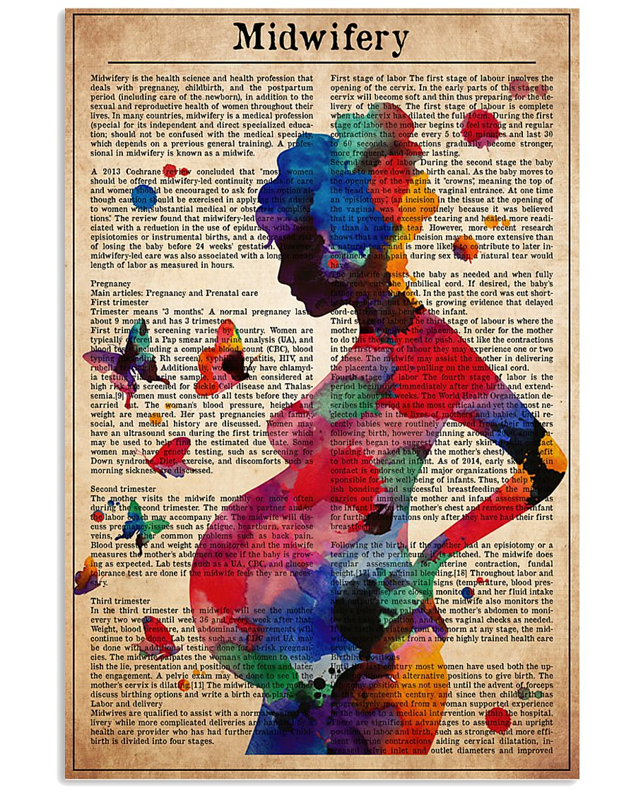 midwife-text-watercolor-II 11x17 Poster