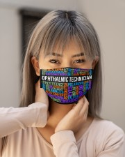 Optometry Ophthalmic Technician mas Cloth Face Mask - 3 Pack aos-face-mask-lifestyle-18