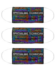 Optometry Ophthalmic Technician mas Cloth Face Mask - 3 Pack front