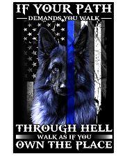 veteran german shepherd 11x17 Poster front
