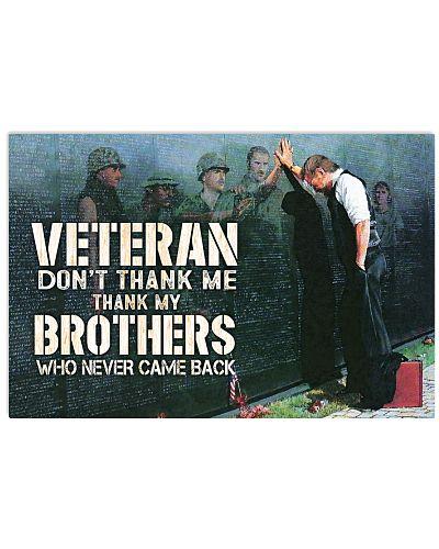 vietnam veteran dont thank me poster